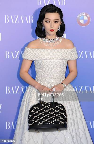 Actress Fan Bingbing attends 2014 Bazaar Charity Night at China World Trade Center Tower III on September 19 2014 in Beijing China