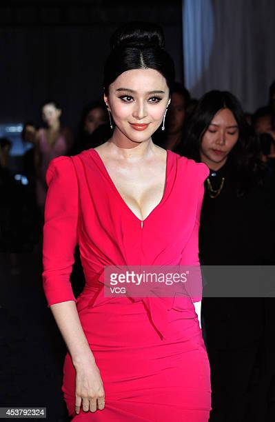 Actress Fan Bingbing attends a commercial activity of Konka on August 18 2014 in Chengdu Sichuan province of China