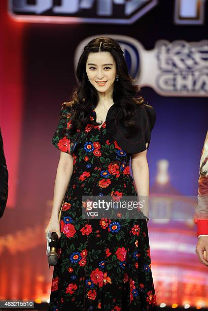 Actress Fan Bingbing attends a press conference for the TV show 'Brilliant Chinese' on China's Preliminary Eve on February 11 2015 in Shanghai China