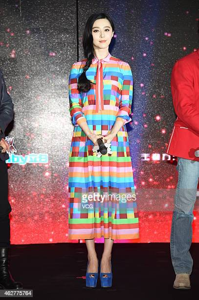 Actress Fan Bingbing attends a reality show Amazing Chinese season two press conference on January 8 2015 in Beijing China