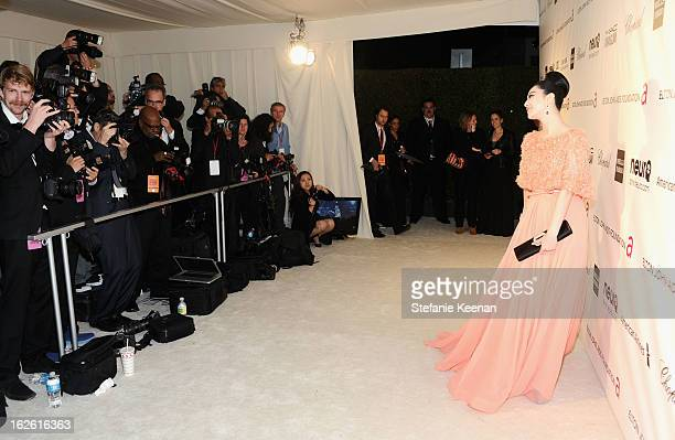 Actress Fan Bingbing attends Chopard at 21st Annual Elton John AIDS Foundation Academy Awards Viewing Party at West Hollywood Park on February 24...