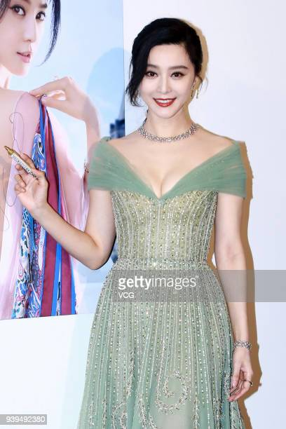 Actress Fan Bingbing attends De Beers Jewellers event on March 28 2018 in Taipei Taiwan