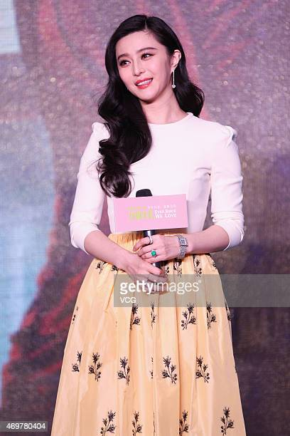 Actress Fan Bingbing attends director Li Yu's new movie Ever Since We Love premiere on April 15 2015 in Beijing China