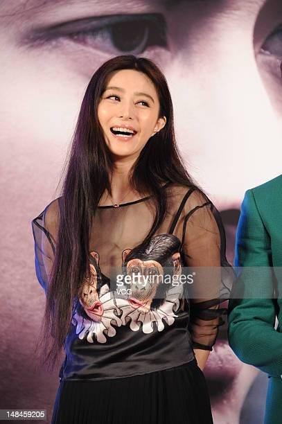 Actress Fan Bingbing attends 'Double Xposure' press conference at Landmark Convention Centre on July 17 2012 in Beijing China