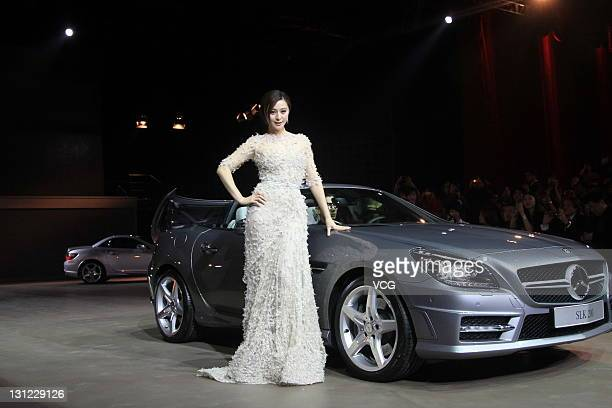 Actress Fan Bingbing attends People of the Year Award 2011 by BAZAAR Men MercedesBenz China Fashion Week Celebration Party at DPARK TankZone on...