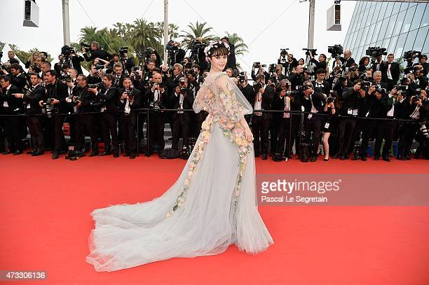 Actress Fan Bingbing attends Premiere of Mad Max Fury Road during the 68th annual Cannes Film Festival on May 14 2015 in Cannes France