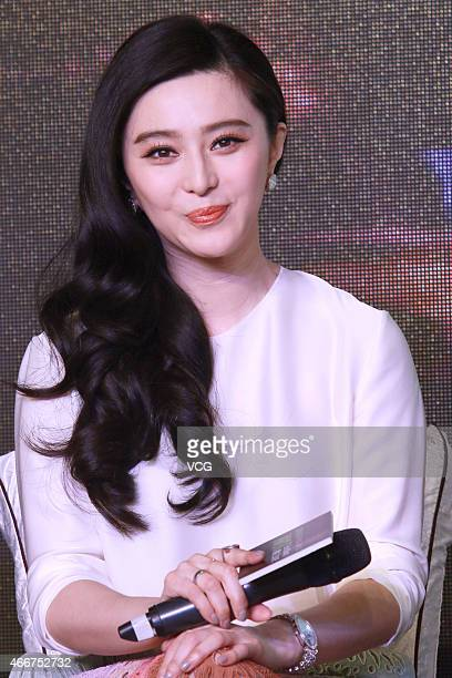 Actress Fan Bingbing attends press conference for Ever Since We Love on March 18 2015 in Beijing China