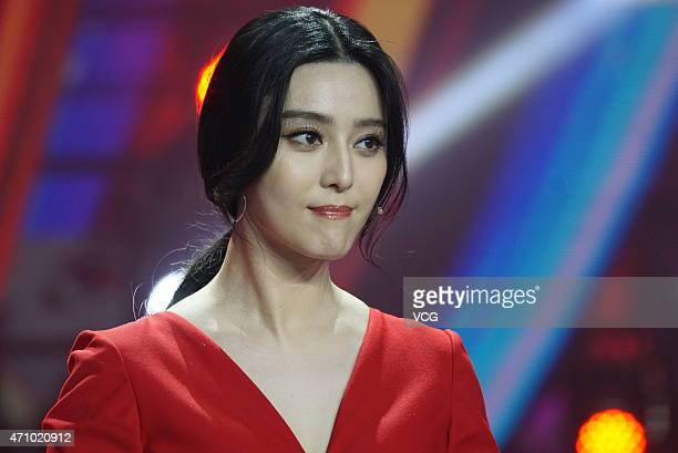 Actress Fan Bingbing attends the Amazing Chinese semifinal recording on April 24 2015 in Shanghai China
