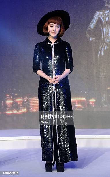 Actress Fan Bingbing attends the Bazaar Men's Style Award on December 15 2012 in Beijing China