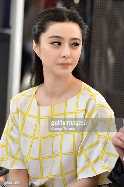 Actress Fan Bingbing attends the 'Emperor' press junket with Jackie Chan and Fan Bingbing during The 66th Annual Cannes Film Festival at Torch at...