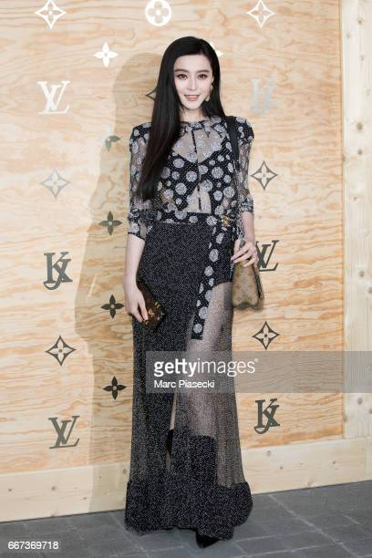 Actress Fan BingBing attends the 'Louis Vuitton Masters a collaboration with Jeff Koons' dinner at Musee du Louvre on April 11 2017 in Paris France