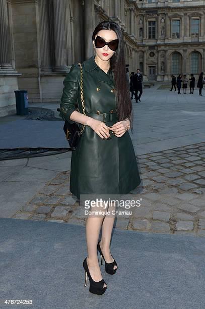 Actress Fan Bingbing attends the Louis Vuitton show as part of the Paris Fashion Week Womenswear Fall/Winter 20142015 on March 5 2014 in Paris France