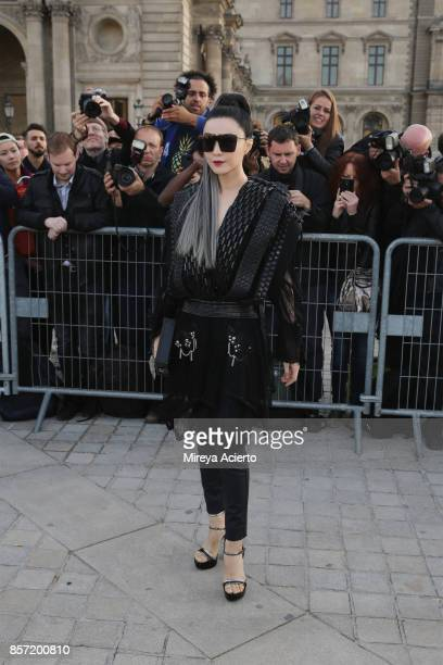 Actress Fan Bingbing attends the Louis Vuitton show as part of the Paris Fashion Week Womenswear Spring/Summer 2018 on October 3 2017 in Paris France