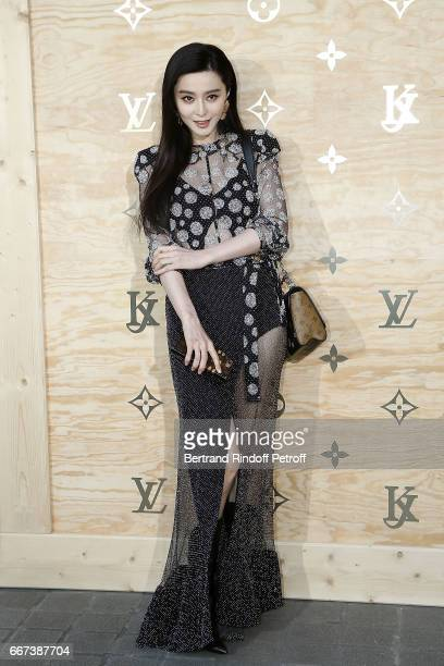 Actress Fan Bingbing attends the LVxKOONS exhibition at Musee du Louvre on April 11 2017 in Paris France