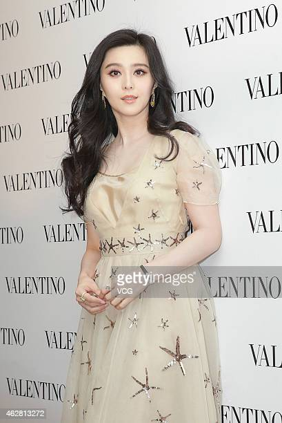 Actress Fan Bingbing attends the opening activity of Valentino flagship store on February 5 2015 in Hong Kong China