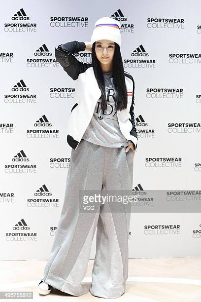 Actress Fan Bingbing attends the opening ceremony of an Adidas store on November 5 2015 in Shanghai China