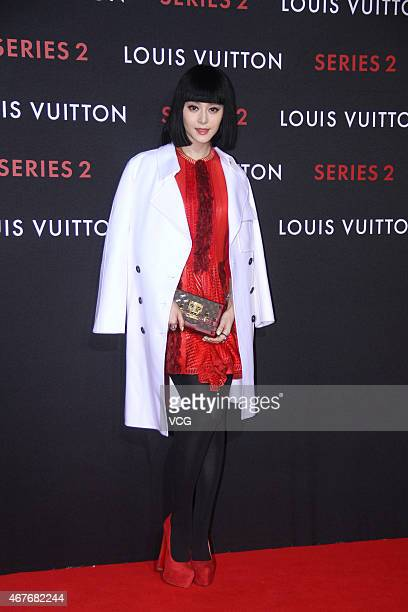Actress Fan Bingbing attends the opening event of LV Series 2 at China World Shopping Mall on March 26 2015 in Beijing China