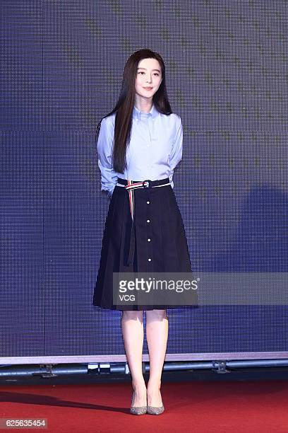 Actress Fan Bingbing attends the premiere of closing film for Taipei Golden Horse Film Festival 2016 on November 24 2016 in Taipei Taiwan of China