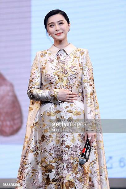 Actress Fan Bingbing attends the press conference of director Feng Xiaogang's film I Am Not Madame Bovary on July 27 2016 in Beijing China