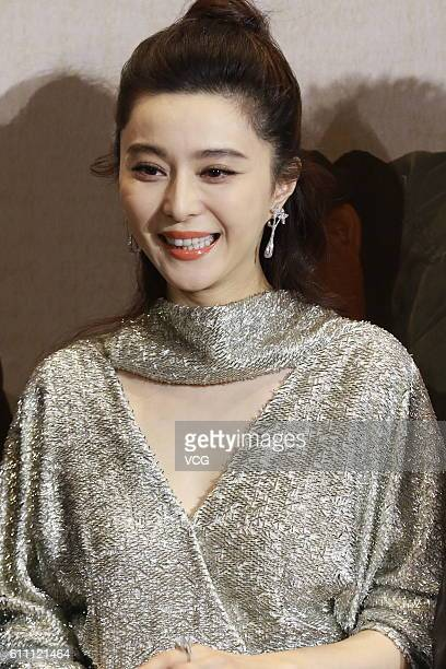 Actress Fan Bingbing attends the press conference of film I Am Not Madame Bovary on September 28 2016 in Beijing China