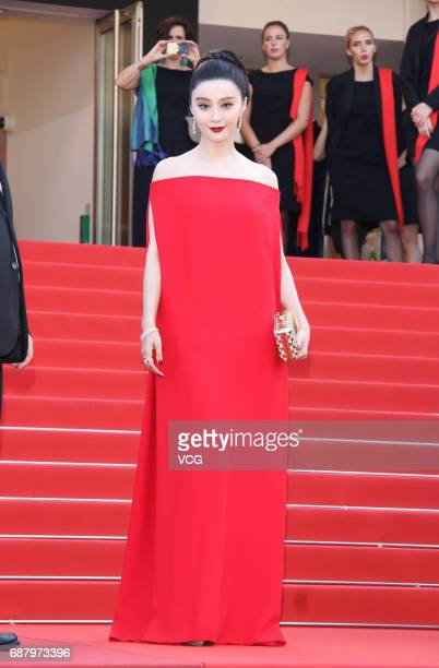 """Actress Fan Bingbing attends the """"The Beguiled"""" screening during the 70th annual Cannes Film Festival at Palais des Festivals on May 24, 2017 in..."""