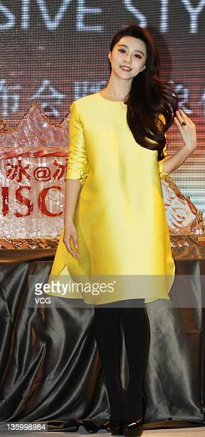 Actress Fan Bingbing attends Viscap 2012 fashion show as spokesperson at Himalaya Hotel on December 15 2011 in Shanghai China
