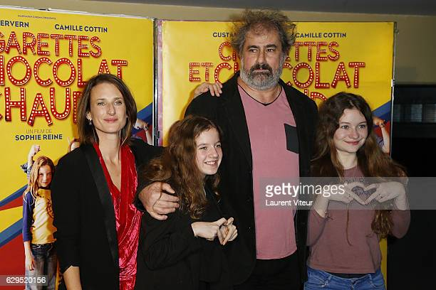 Actress Fanie Zanini Actor Gustave Kervern Actress Heloise Dugas and Actress Camille Cottin attend Cigarettes Chocolat Chaud Paris Premiere at UGC...