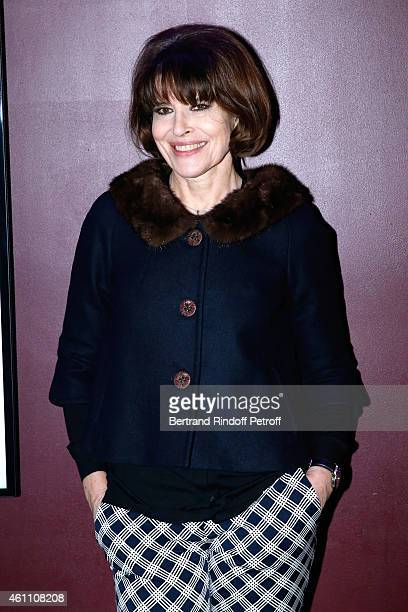 Actress Fanny Ardant attends the 'Chic ' Paris Premiere at Gaumont Marignan Cinema on January 6 2015 in Paris France