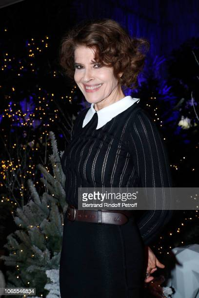 Actress fanny Ardant attends the Inauguration of the Chalet Les Neiges Courchevel on the terrace of the Hotel Barriere Le Fouquet's Paris on November...