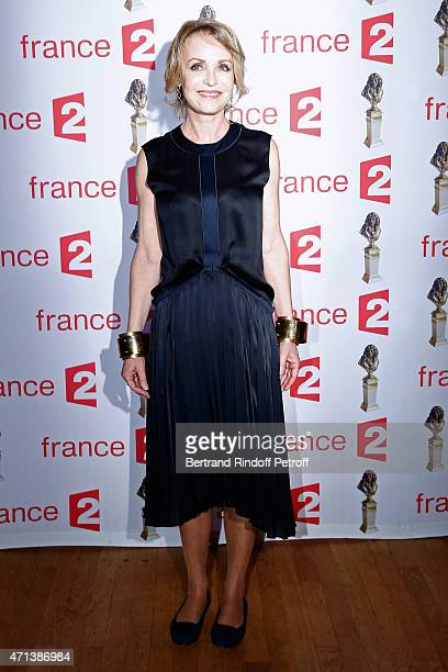 Actress Fanny Cottencon attends the 27th 'Nuit Des Molieres' 2015 Held at Folies Bergere on April 27 2015 in Paris France
