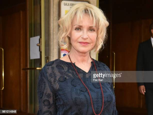 Actress Fanny Cottencon attends the Amnesty International 34 th Gala at Theatre Champs Elysees and after Party at La Maison Blanche on June 21 2018...