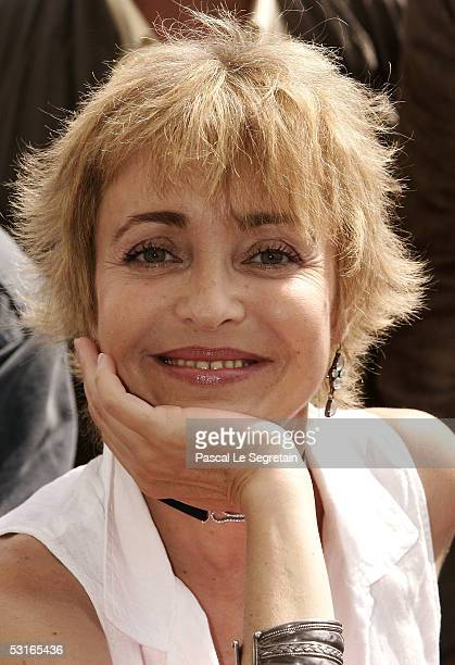 Actress Fanny Cottencon poses during a photo call at the 45th Television festival of Monte Carlo on June 29 2005 in Monte Carlo Monaco