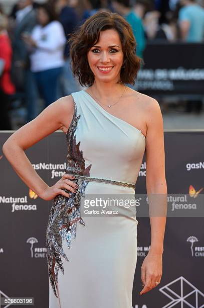 Actress Fanny Gautier attends Nuestros Amantes premiere at the Cervantes Teather during the 19th Malaga Film Festival on April 30 2016 in Malaga Spain