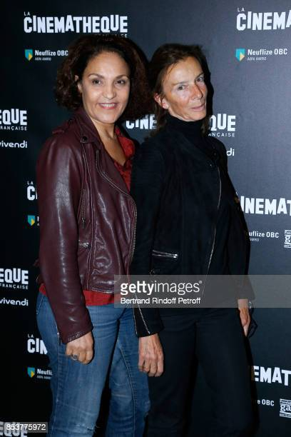 Actress Farida Rahouadj and choreographer Chris Gandois attend the Un beau soleil interieur Paris Premiere at La Cinematheque on September 25 2017 in...