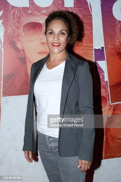 Actress Farida Rahouadj attends the Guy Paris Premiere at Gaumont Capucines on August 28 2018 in Paris France