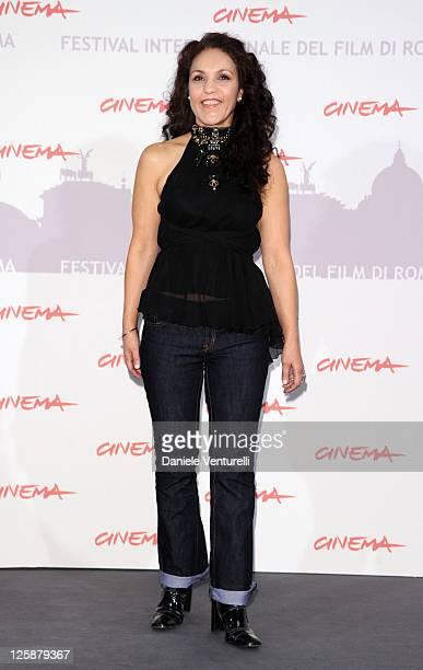Actress Farida Rahouadj attends the Le Cose Che Restano Photocall during the 5th International Rome Film Festival at the Auditorium Parco Della...