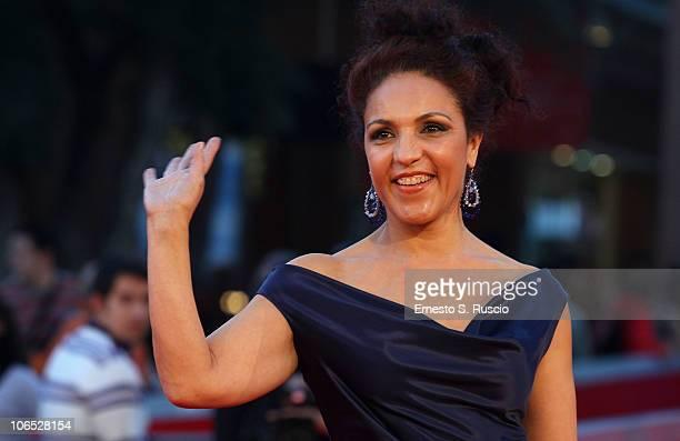 Actress Farida Rahouadj attends the Le Cose Che Restano Premiere during the 5th International Rome Film Festival at the Auditorium Parco Della Musica...