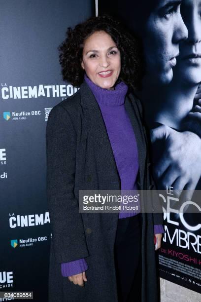 Actress Farida Rahouadj attends the Le secret de la chambre noire Paris Premiere at Cinematheque Francaise on February 6 2017 in Paris France