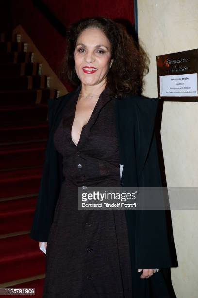 Actress Farida Rahouadj attends the Michele Bernier One Woman Show Vive Demain at Theatre des Varietes on January 28 2019 in Paris France
