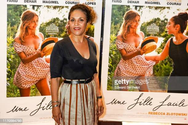 Actress Farida Rahouadj attends the Une Fille Facile Premiere photocall At Cinema UGC Cine Cite Les Halles on August 27 2019 in Paris France