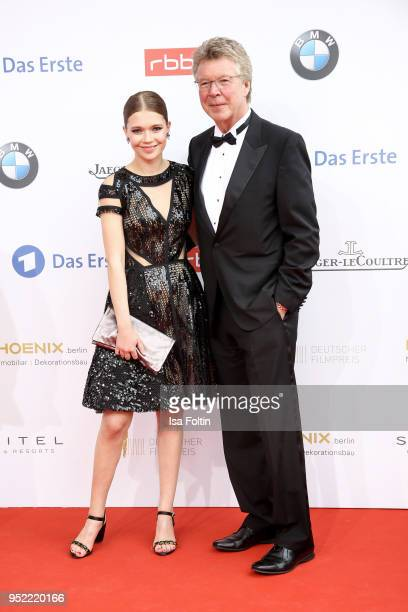 Actress Farina Flebbe and her father Joachim Flebbe attend the Lola German Film Award red carpet at Messe Berlin on April 27 2018 in Berlin Germany