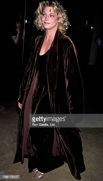 Actress Farrah Forke attends Carousel Ball Of Hope Benefit on October 28 1994 at the Beverly Hilton Hotel in Beverly Hills California