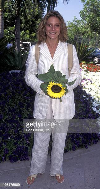 Actress Farrah Forke attends CBS TV Summer Press Tour on July 24 1995 at the Ritz Carlton Hotel in Pasadena California