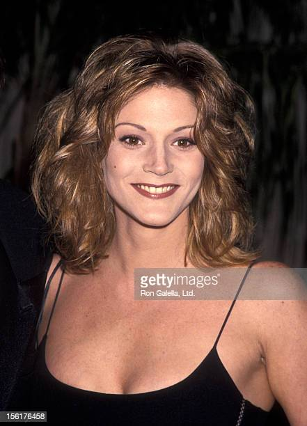 Actress Farrah Forke attends the taping of 'Golden Globes 50th Anniversary Celebration' on November 20 1993 at NBC Studios in Burbank California