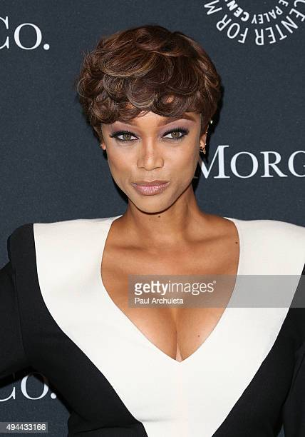 Actress / Fashion Model Tyra Banks attends the Paley Center For Media's Tribute To AfricanAmerican Achievements In Television at the Beverly Wilshire...