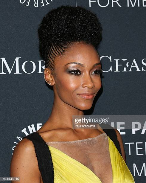 Actress / Fashion Model Yaya DaCosta attends the Paley Center For Media's Tribute To AfricanAmerican Achievements In Television at the Beverly...
