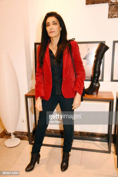 Actress Fatima Adoum attends Avellino Cocktail Party at Avellino Store Rue de Richelieu on September 25 2017 in Paris France