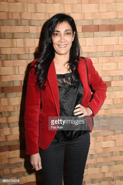 Actress Fatima Adoum attends 'Low Notes' Film Screening at Cinema Saint Andre des Arts on April 6 2017 in Paris France