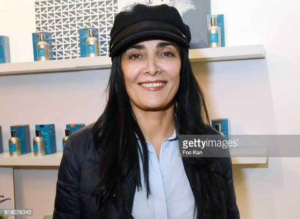 Actress Fatima Adoum attends the Comptoir Sud Pacifique Rive Gauche Flagrance Shop Opening on February 13 2018 in Paris France