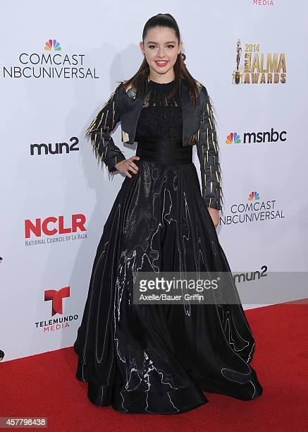 Actress Fatima Ptacek arrives at the 2014 NCLR ALMA Awards at Pasadena Civic Auditorium on October 10 2014 in Pasadena California